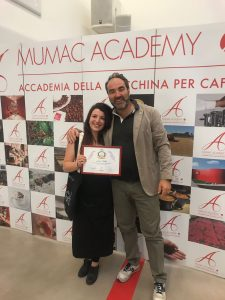 Sara Trotta with Alessandro Borea